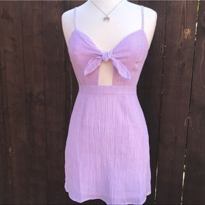 Pink & White Striped Dress